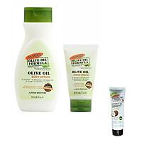 [Tặng dầu gội 50ml] Combo sữa dưỡng thể Olive 250ml + Kem dưỡng da tay olive 60g Palmer's Olive Oil Formula - Dưỡng ẩm, chống lão hóa chuyên sâu