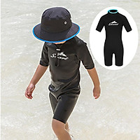 Kids One Piece Swimsuit Toddlers Surfing Diving Swimwear Girls Boys Short Wet Suit Child Sun Protection