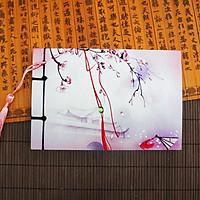 Sổ cổ phong dây tuyến sổ cổ trang ghi chú tập vở viết in phong cách Trung quốc cổ điển tặng thẻ Vcone