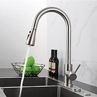 Vòi rửa chén bát đa chức năng KAMA RC14, vòi bếp nóng lạnh inox 304, dây rút tiện lợi, mẫu mới 2020 - HÀNG CHÍNH HÃNG