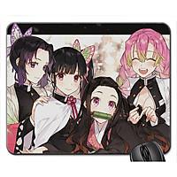 Mouse pad , miếng Lót chuột máy tính, đồ di chuột máy tính hình Anime Kimetsu no Yaiba - Demon Slayer - Lưỡi gươm Diệt Quỷ