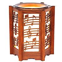 Đèn xông tinh dầu Gỗ KAZU KZ33 tỏa hương thơm trang trí nội thất nhà cửa