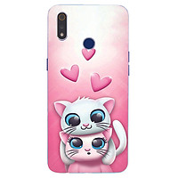 Ốp điện thoại dành cho máy Oppo Realme 3 - Đôi mèo MS ADATU003