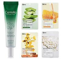Kem dưỡng da xóa nếp nhăn mắt chiết xuất rau má thảo dược Beauskin Hàn quốc (30g) và 4 đắp mặt nạ benew