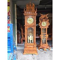 Đồng hồ đứng gỗ hương mẫu tháp dây 2,1m