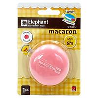 Bút Xóa Kéo Elephant - MACARON - Màu Hồng
