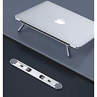 Giá đỡ laptop tản nhiệt dành cho máy tính macbook hợp kim nhôm dạng dán siêu gọn - Hàng chính hãng