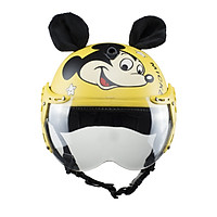 Nón bảo hiểm nửa đầu em bé VS chuột Mickey