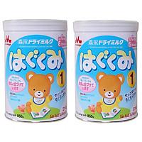 2 Hộp Sữa Bột Morinaga Hagukumi Dành cho trẻ  Số 1 (850g)