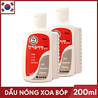 Bộ 2 Chai Dầu nóng Xoa Bóp Massage Hàn Quốc Antiphlamine - Chai 100ml
