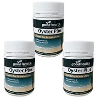 Combo 3 Hộp Tinh Chất Hàu Goodhealth Oyster Plus 30 Viên - Giúp Tăng Cường Sinh Lý - Cải Thiện Chất Lượng Tinh Trùng - Hàng Chính Hãng New Zealand