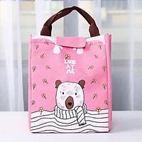 Túi đựng hộp cơm giữ nhiệt, túi đựng thức ăn vải Oxford The Best In Bag001 size lớn 24x20x17cm