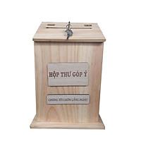 Hộp thư góp ý bằng gỗ, hộp thư góp ý kiểu dáng hiện đại thích hợp cho công ty, các văn phòng công ty