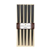 Bộ 5 đôi đũa gỗ cao cấp sang trọng màu đen Nội địa Nhật Bản