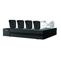 Bộ Kit Hilook IK-4042BH-MH/P 4 camera IP 2.0MP tích hợp sẵn cổng PoE trên đầu ghi hình chuẩn nén H265+