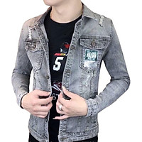Áo khoác jeans nam , áo khoác nam xám GT01 form vừa chất liệu mềm mềm co dãn lôi cuốn có mũ có 3 size Julido mẫu khoác AKJ8687 thời trang lịch lãm hàn quốc trẻ trung hiện đại