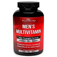 Mens Multivitamin – Daily Multivitamin for Men with Vitamin A C D E K B Complex, Calcium, Magnesium, Selenium, Zinc Plus Heart, Brain, Immune, and Men's Multivitamins – 90 Vegetarian Capsules