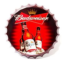 Beer Budweiser - Nắp phén 35cm vintage decor trang trí