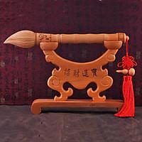 Bộ giá, bút Văn Xương gỗ đào - Vật phẩm phong thủy cầu sự nghiệp, thi cử, học vấn, công danh