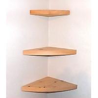 set 3 kệ góc 90 gỗ tự nhiên treo tường gỗ tự nhiên nhập khẩu