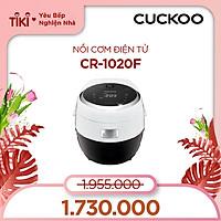 Nồi cơm điện tử Cuckoo 1.8L CR-1020F - Lòng nồi chống dính - Nhiều chế độ nấu ăn - Tiết kiệm điện - Hàng chính hãng Cuckoo Vina