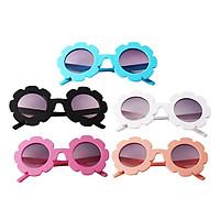 5Pcs Lovely Baby Boys Girls Round Sunglasses Toddler Plastic Goggles Eyewear