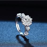 Nhẫn cầu hôn lãng mạn mạ vàng 14K QYP30060