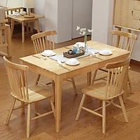 Bộ bàn ăn 4 ghế gỗ sồi DI-332A