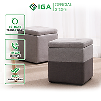 Ghế đôn trang điểm IGA, ghế đẩu thông minh kết hợp bàn cafe - GC11