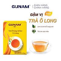 Hộp trà Ô long túi lọc vị gừng GUNAM (25 gói x 2,5g)