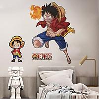 Decal dán tường 3D tranh trang trí One Piece - decal đảo hải tặc đẹp và rẻ