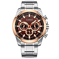 Curren Men Businiess Watch Exquisite Classic Alloy Case Stainless Steel Wrist Band Watch Fashion 3 ATM Waterproof Quartz