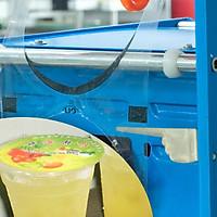Máy ép miệng ly HL-95C, máy dán màng cốc trà sữa, cà phê, sinh tố, nước sâm, hoa , quả, công suất 500-700 ly/giờ, với miệng ly đường kính 95cm