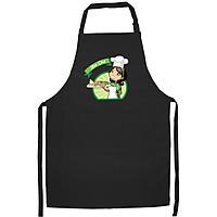Tạp Dề Làm Bếp In Hình Mom chef - ABZTU002 – Màu Đen