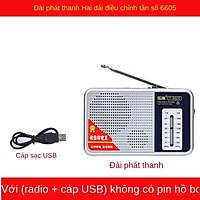 Đài T6605 với sóng trung di động FM bán dẫn thu nhỏ cổ điển Nghe nhạc
