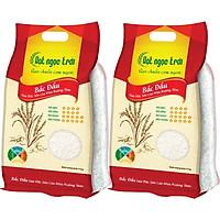 Combo 2 sản phẩm gạo Hạt Ngọc Trời Bắc Đẩu Túi 5kg - Gạo Đặc Sản Lúa Mùa Ruộng Tôm - Dẻo vừa, mềm cơm, thơm nhẹ