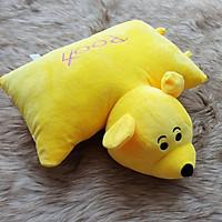 Gối đi xe máy nhồi bông cho bé hình gấu Pooh vàng
