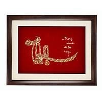 Quà mừng thọ cao cấp : Tranh chữ Thọ mạ- vàng 24k size lớn