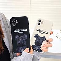 Ốp Lưng Cạnh Vuông Bear Brick Dành Cho iPhone 6 / 6 Plus / 7 / 7 Plus / 8 / 8 Plus / X / Xs / Xs Max / 11 / 11 Pro / 11 Pro Max / 12 / 12 Pro / 12 Pro Max