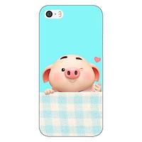 Ốp lưng dẻo cho điện thoại Apple iPhone 5 / 5s _Pig Cute 07