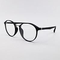 Gọng kính cận nam nữ mắt tròn nhựa dẻo màu xám, đen, hồng SA2168. Tròng kính giả cận 0 độ chống ánh sáng xanh, chống nắng và tia UV