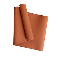 Thảm Yoga MIKIE MAT DARK ORANGE 1 màu - TPE nguyên khối - Dày 6mm - Thành phần cao su non tự nhiên - Chống trượt, Không mùi