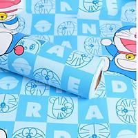 10 mét giấy dán tường doremon có keo sẵn khổ rộng 45cm, giấy decal dán tường doremon phòng ngủ cho bé-