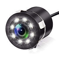 Camera Lùi Dành Cho Ô Tô Chống Nước 8 LED Tròn Cao Cấp