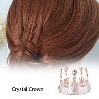 Crystal Full Circle Crown Small Birthday Cake Crown Wedding Dress Accessories