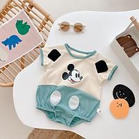Quần áo trẻ em sơ sinh Babi mama Body liền thân cotton hình mickey bé yêu SS02