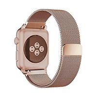 Dây Đeo thay thế dành cho Apple Watch-Milanese Loop - VÀNG ÁNH Hồng