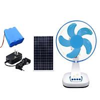 Quạt tích điện năng lượng mặt trời FT30 nguồn điện gia đình hoặc điện mặt trời