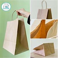 100 túi giấy kraft nhật có quai K2033 21,5x15x31cm