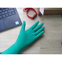 Combo 10 đôi găng tay Latex có bột dùng trong chế biến màu xanh lá
